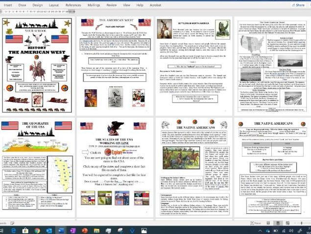 NATIVE AMERICANS - CONTACT AND COLONISATION - FULL UNIT OF WORK