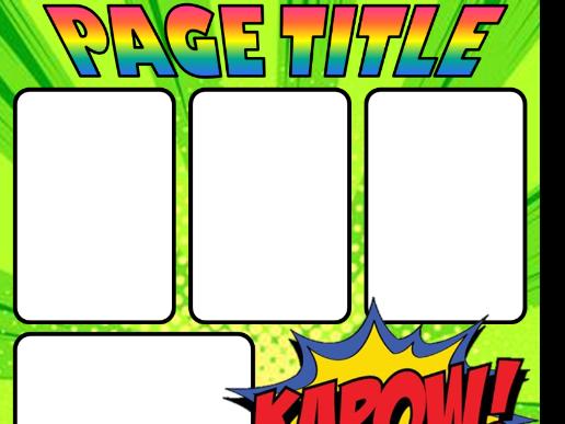 Comic Book Year Book Template Year 6/Year 11 Leavers