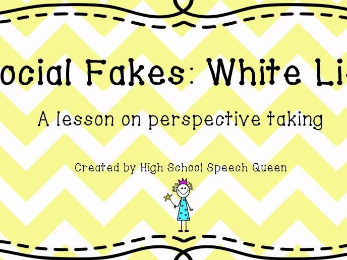 Social Fakes: White Lies