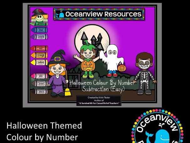 Halloween Themed Subtraction- Numbers up to 20