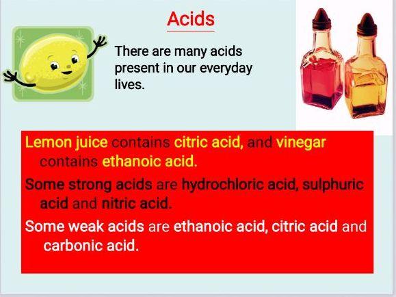 Acids, Bases and Indicators