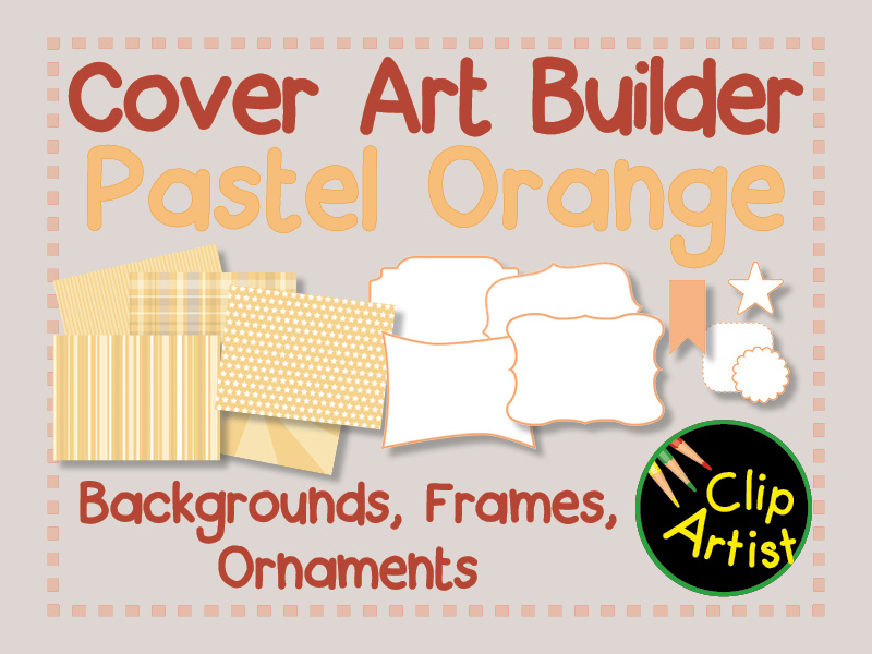 Cover Builder for Authors and Presentations - Pastel Orange