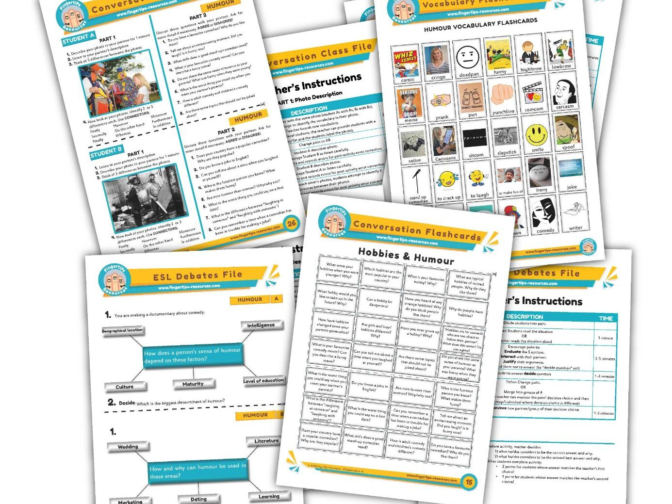 Humour & Jokes Unit - ESL Activity Bundle