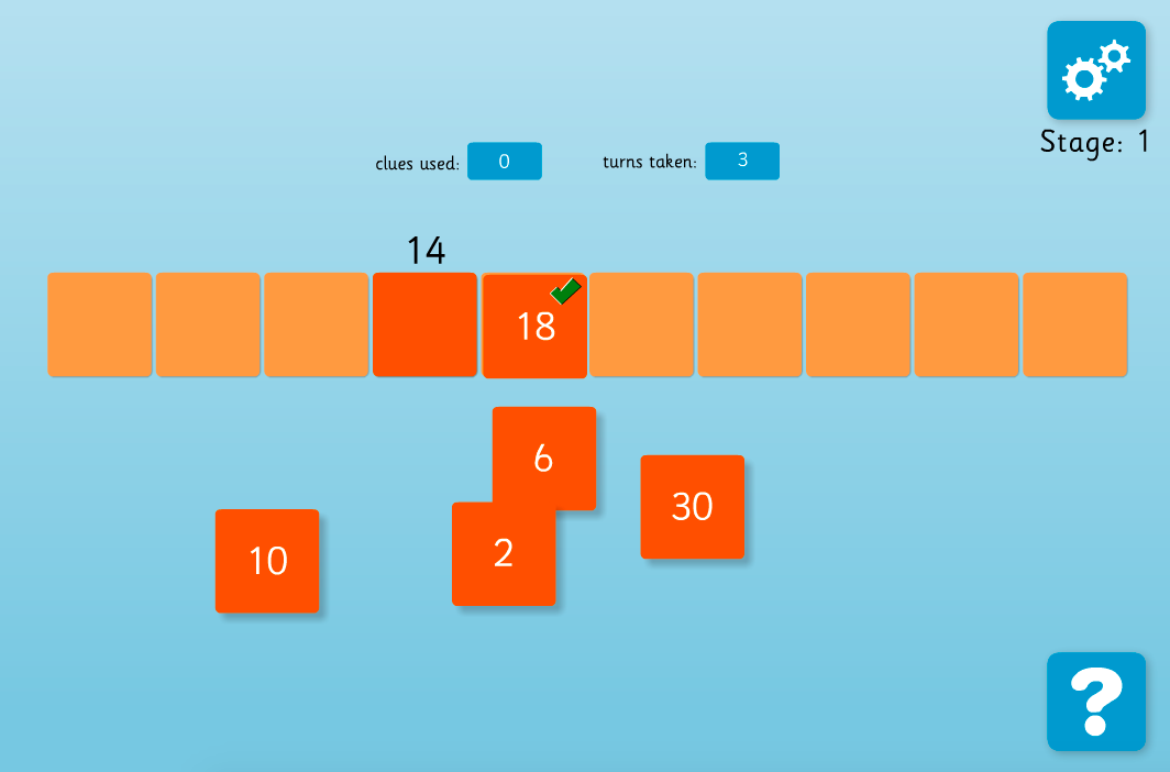 Number Line Puzzle Interactive Game - KS2 Number