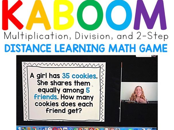 SCREEN-SHARE KABOOM! Multiplication and Division Game for Distance Learning