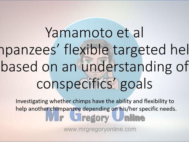 Yamamoto et al (Chimps helping)