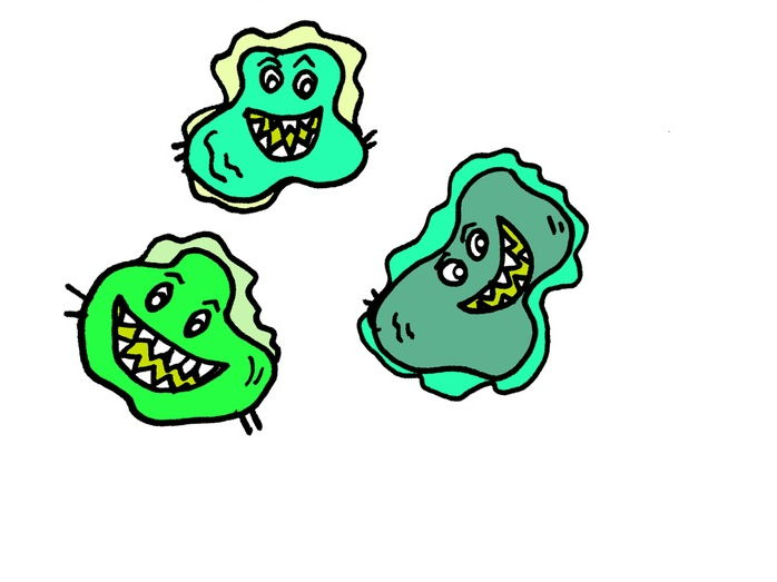 Ah! Germs! Tissue Box Cover