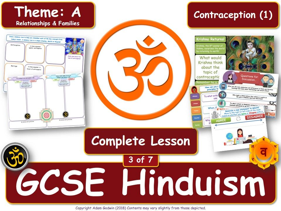 Contraception - Hindu Views (GCSE RS - Hinduism - Relationships & Families) Theme A - L3/7