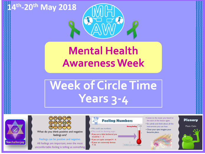 Mental Health Awareness Week 2018 Yr 3-4 Circle Time
