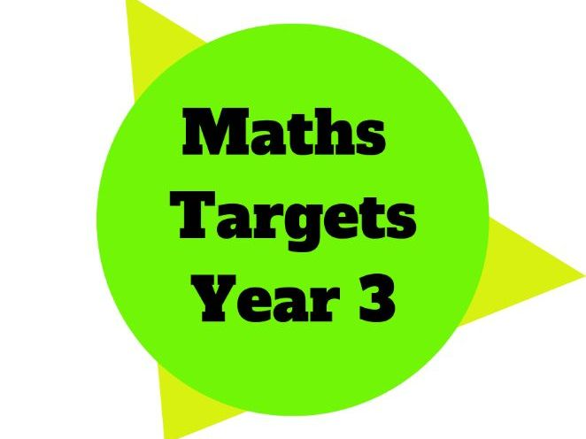 Year 3 - Maths Target Sheets