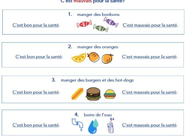 'Healthy Food' in French