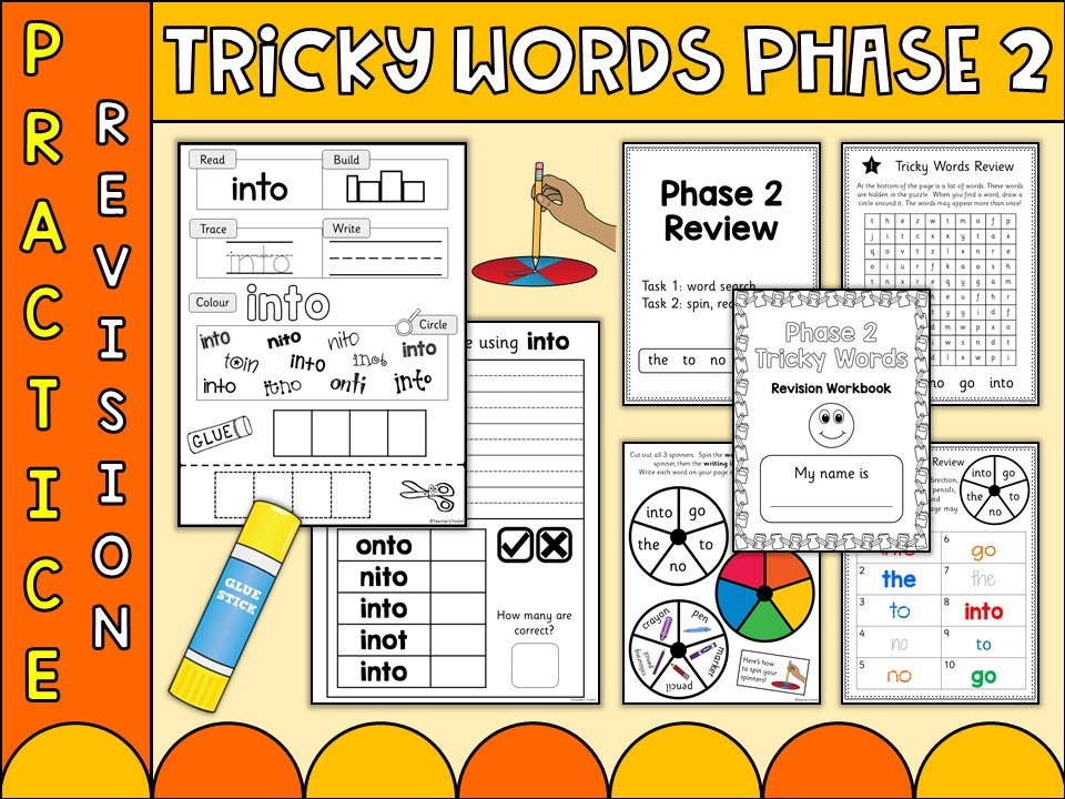 Phonics: Phonics Phase 2 Tricky Words Practice Worksheets