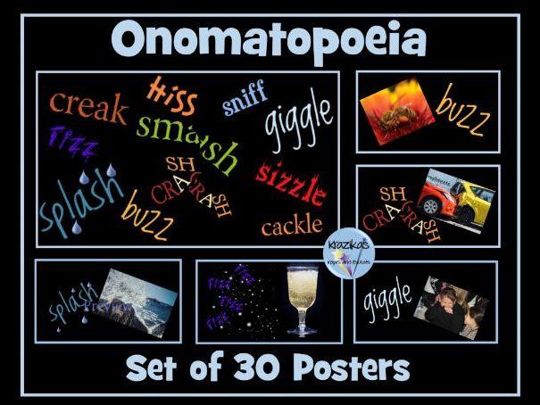 Onomatopoeia Posters
