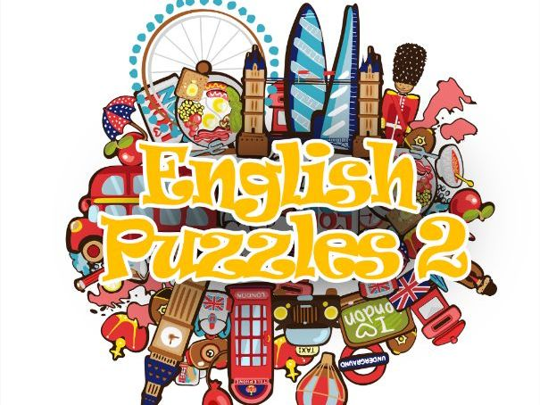 English Puzzles 2 Vocabulary practice workbook for EFL ESL Pre-Intermediate level