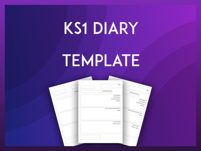 KS1 Diary Template
