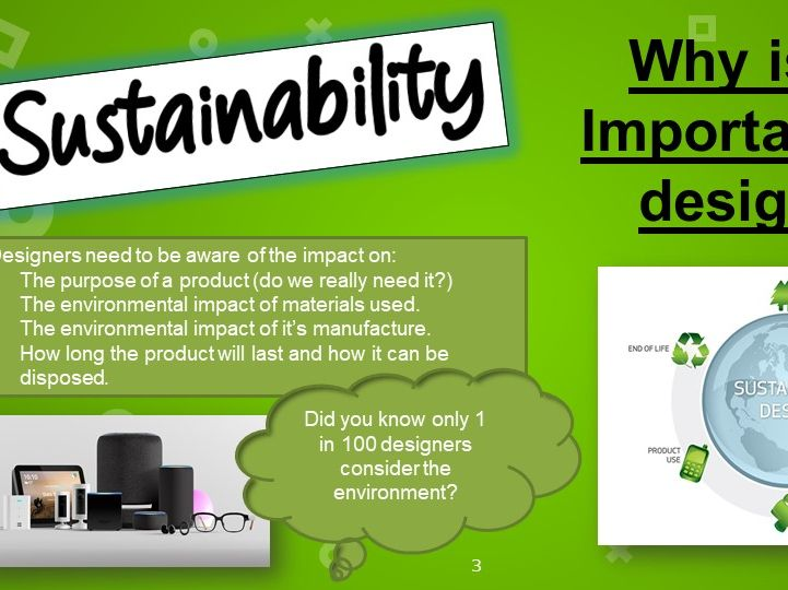 Home learning design and technology sustainability project