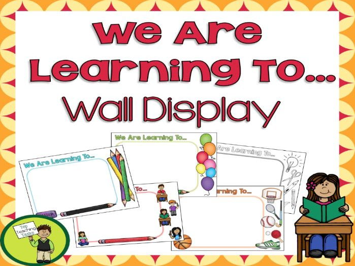 We Are Learning To... Wall Display - USA