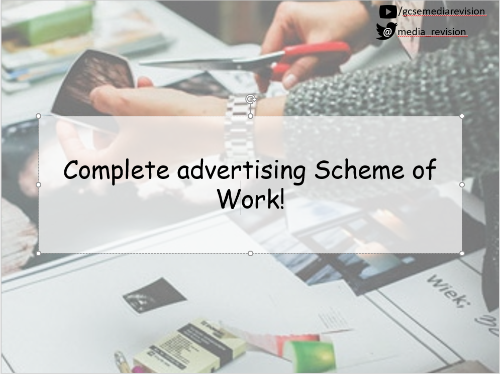 Complete Advertising Scheme of Work