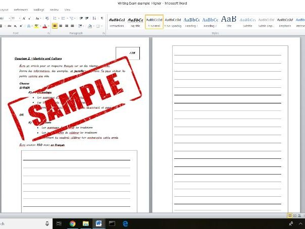 GCSE Writing Paper Practice - Higher