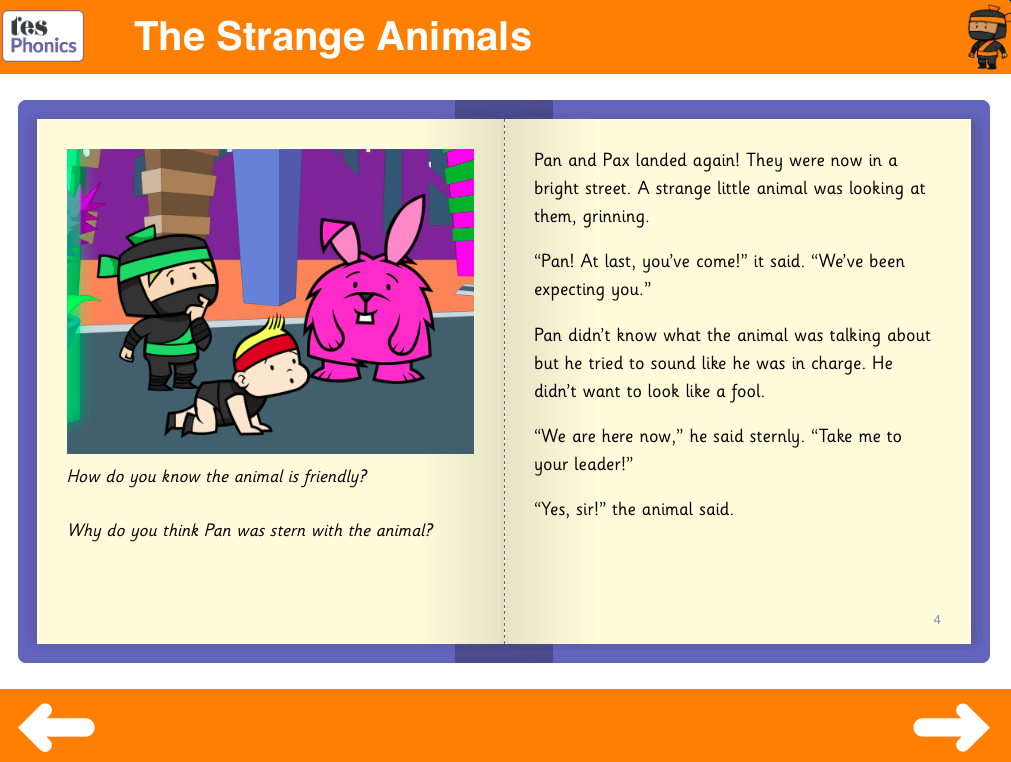 The Strange Animals Reading Book - Phase 5