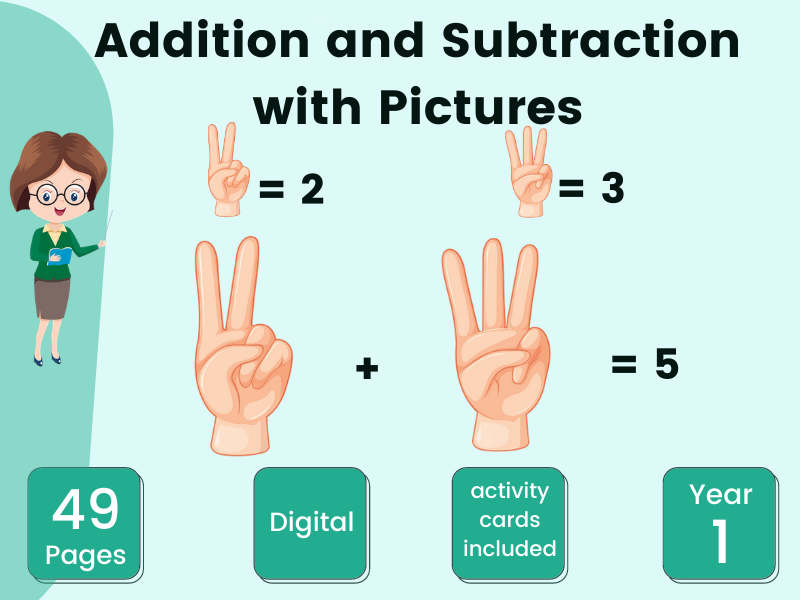 Year 1 Addition and Subtraction with Pictures
