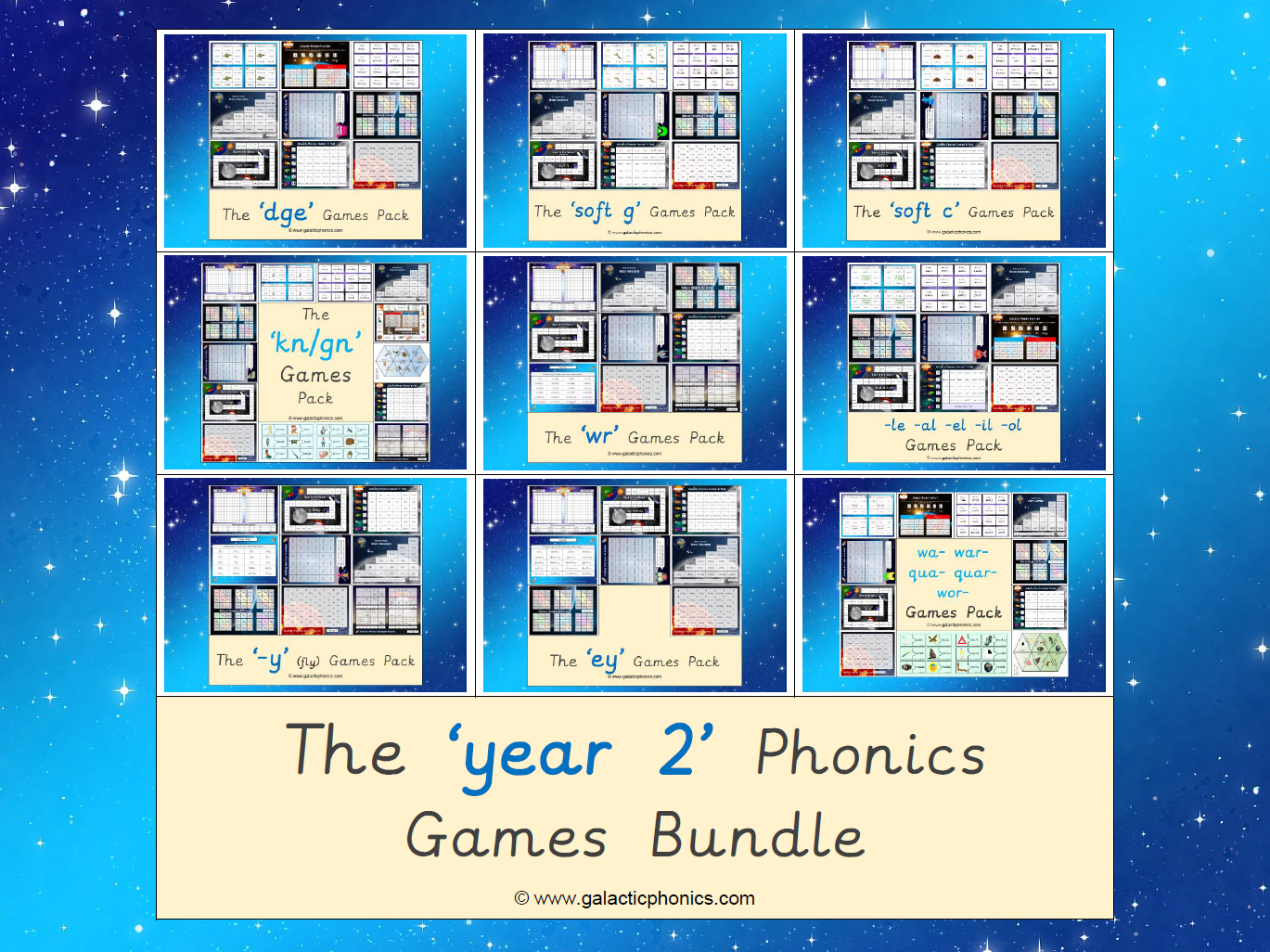 The Year 2 Phonics Games Bundle