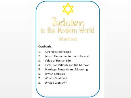 Judaism in the Modern World: Workbook: Med Ability