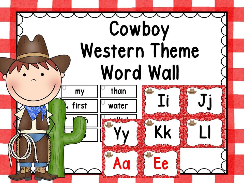 Cowboy/Western Theme Word Wall Red