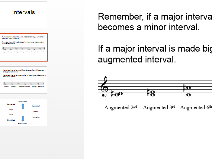 Step by step musical intervals - 6 lesson bundle
