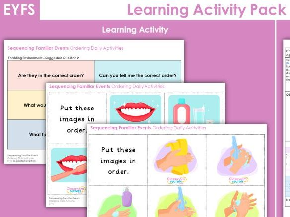 EYFS Ordering Daily Activities Learning Activity