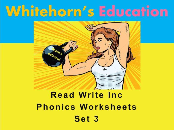 Speed Sounds - Set 3 - Phonics  Worksheets - Read Write Inc
