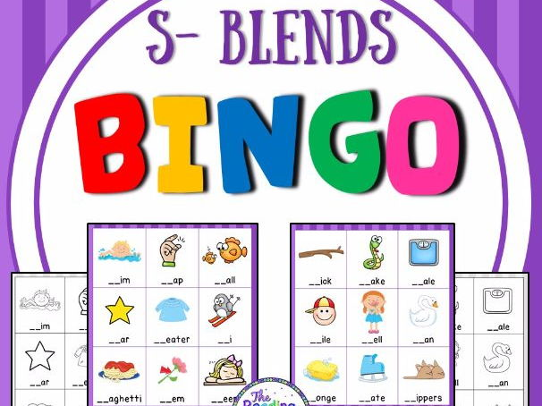 Blends Bingo Game (S Blends)