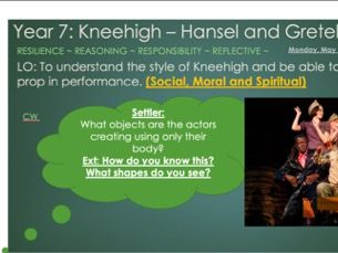 Drama Year 7/8 SOL - Kneehigh theatre company - Powerpoints and resources