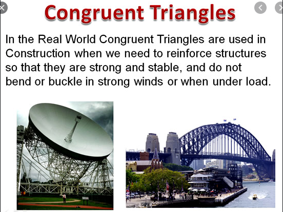 Geometry and Measure; Similarity and Congruency of Triangles; others 2-D & 3-D Shapes