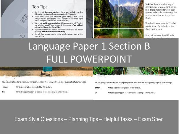 Language Paper 1 Section B FULL POWERPOINT