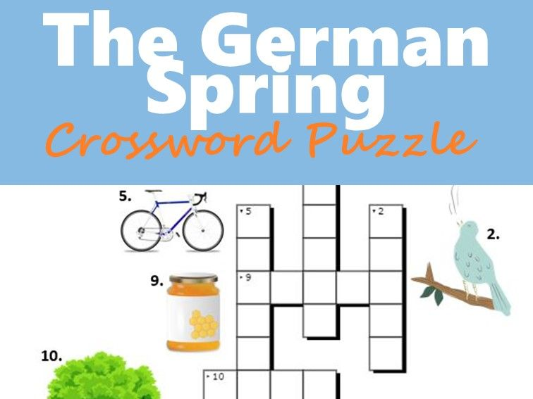 The German Spring - Crossword Puzzle with Pictures