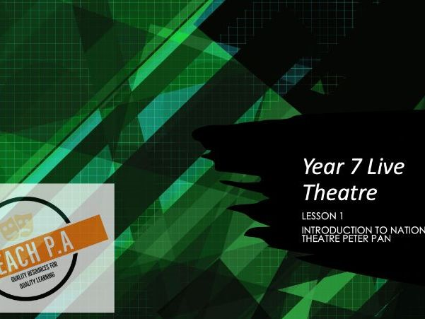 National Theatre Peter Pan KS3 Remote Lessons