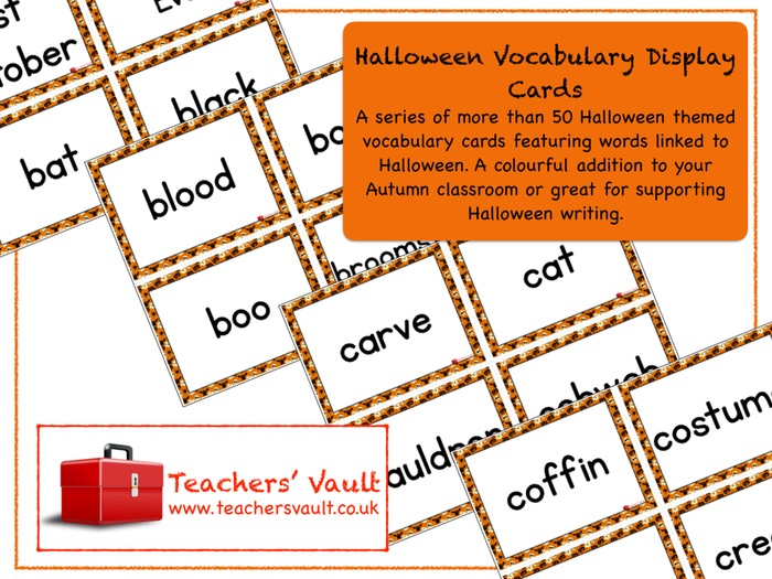 Halloween Vocabulary Display Cards