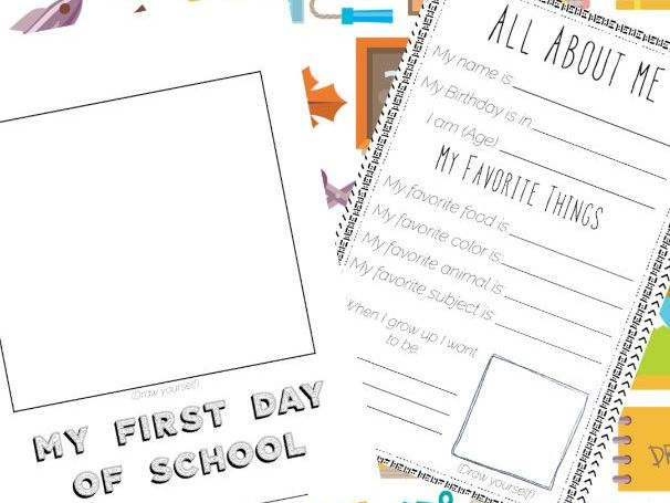 First day of school- Worksheets