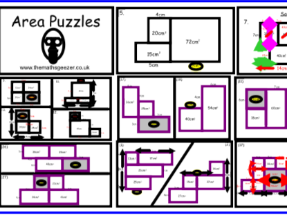 Area Puzzles - Notebook
