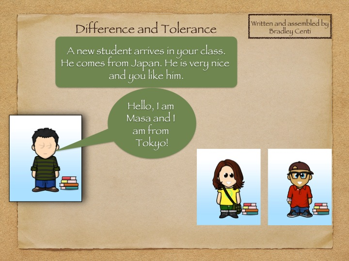 Ethics or Citizenship Lesson Theme Difference and Tolerance