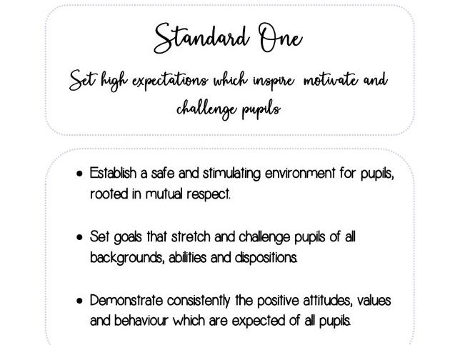 Ideal for SCITT/PGCE - Teachers' Standards Evidence file dividers