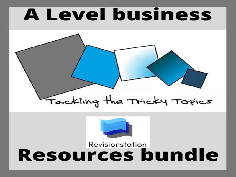 Edexcel A Level business tricky topics worksheet resources bundle