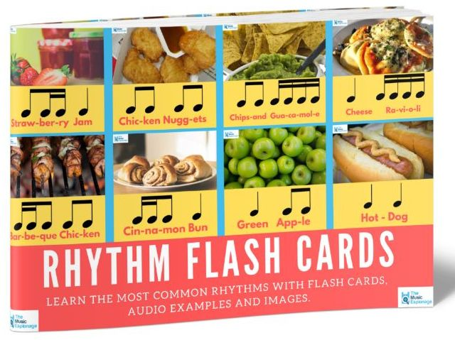 Rhythm Flash Cards-AUDIO Examples + IMAGES