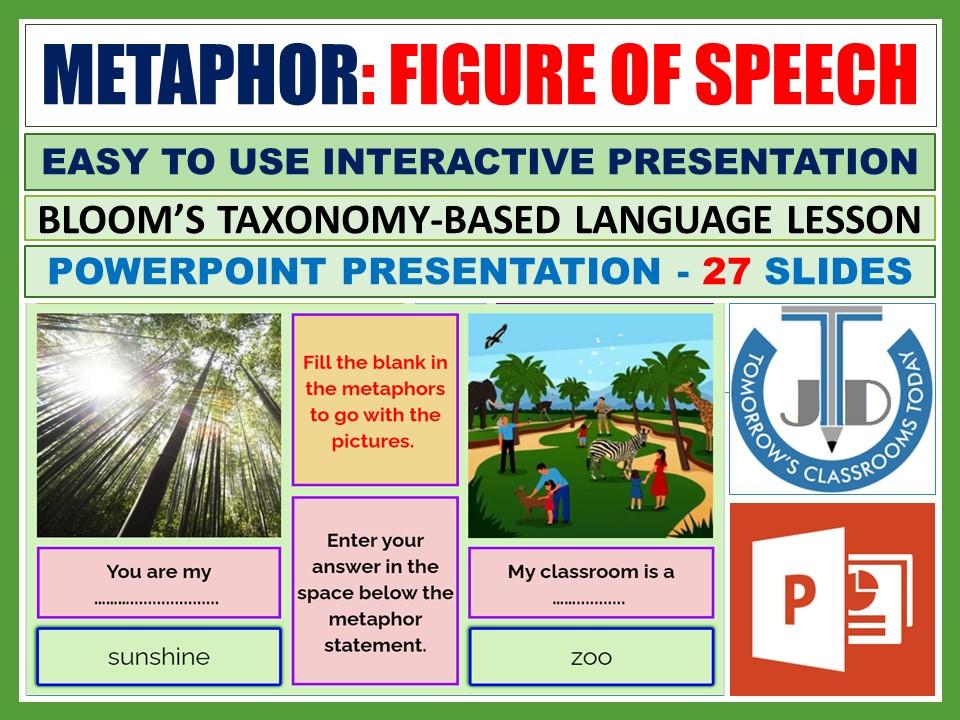 METAPHOR - FIGURATIVE LANGUAGE: POWERPOINT PRESENTATION