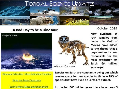 Topical Science Update  - October 2019
