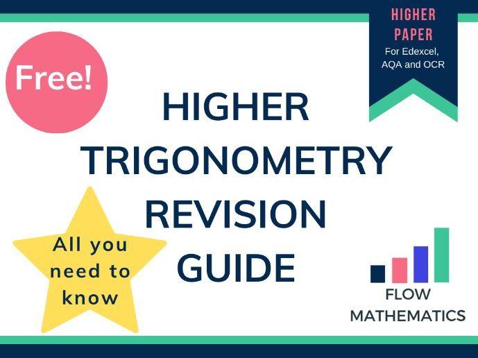Higher trigonometry GCSE revision guide