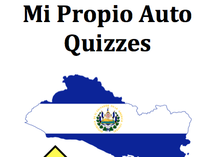 "Complete set of ""Mi Propio Auto"" Quizzes"