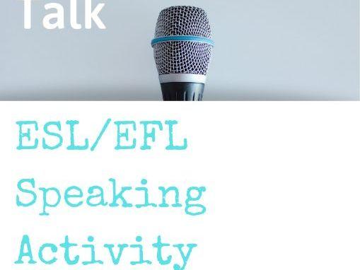 One-Minute Talk: ESL Speaking Activity