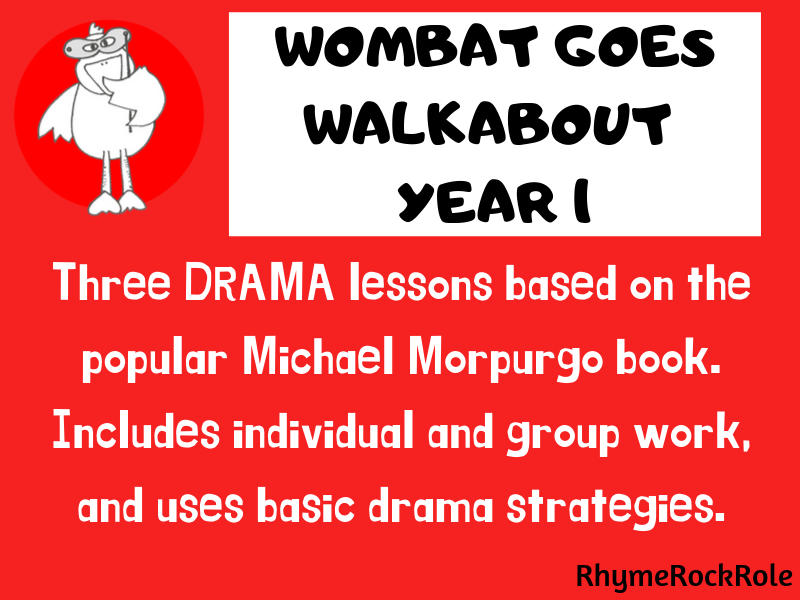 Wombat Goes Walkabout - drama lessons Y1